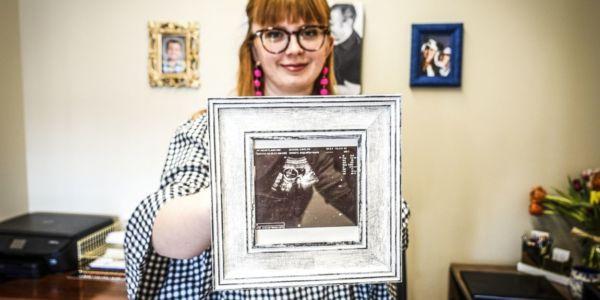 Abortmotståndaren Caitlyn Dixson, Des Moines, Iowa