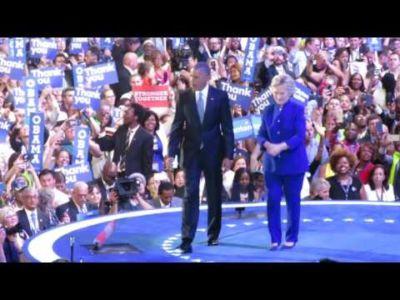 Obama & Clinton på Demokraternas konvent