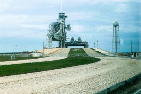 Härifrån startplatta 39A sköts flera rymdfärjor upp.