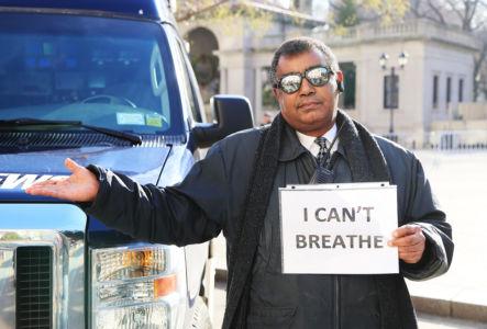NYC-demonstration mot polisvåld