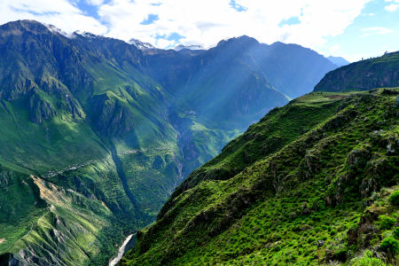 Colca Canyon, the Andes, Peru.