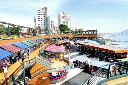 A sea side shopping mall in Lima.