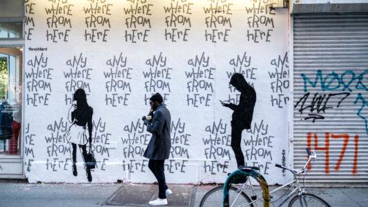 Väggmålning södra Manhattan